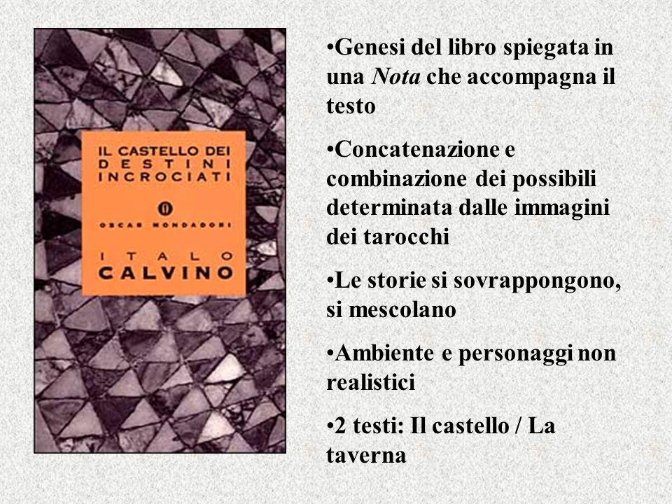 Genesi del libro spiegata in una Nota che accompagna il testo Concatenazione e combinazione dei possibili determinata dalle immagini dei tarocchi Le s