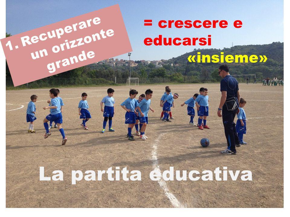 1.Recuperare un orizzonte grande La partita educativa = crescere e educarsi «insieme»