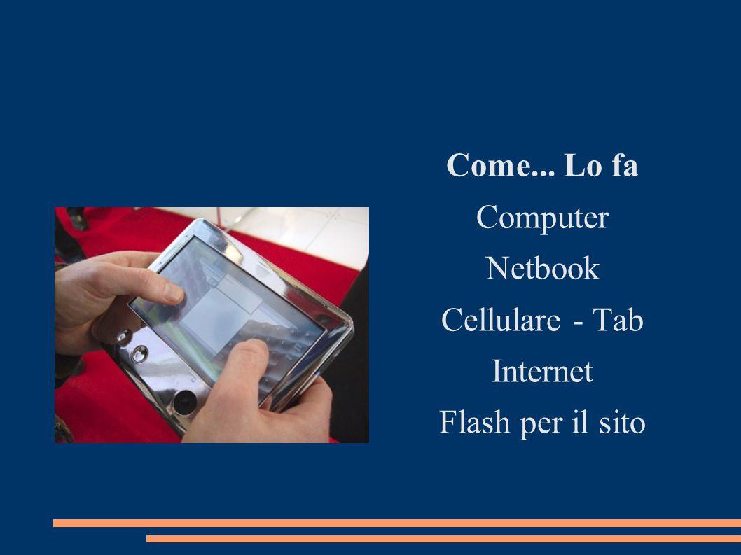 Come... Lo fa Computer Netbook Cellulare - Tab Internet Flash per il sito