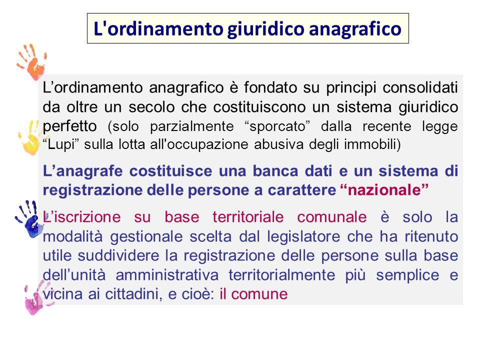 La famiglia anagrafica art.4 DPR n.