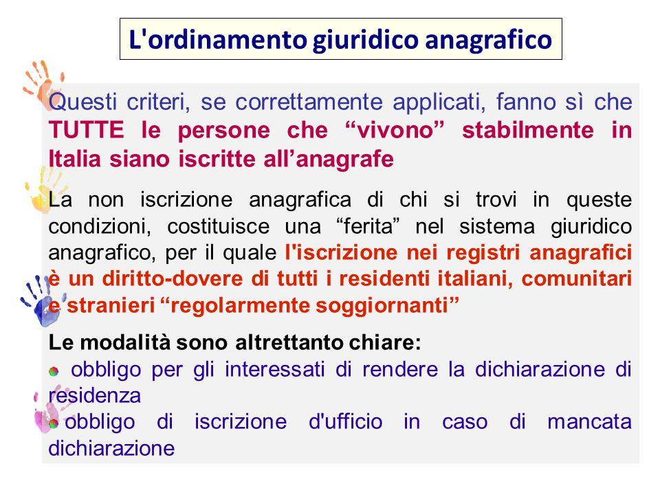 Si tratta di 2 concetti sovrapponibili o distinti La famiglia anagrafica è nozione ben distinta da quella della famiglia c.d.