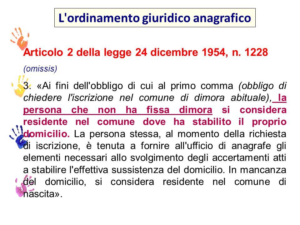 La convivenza anagrafica art.5 DPR n.