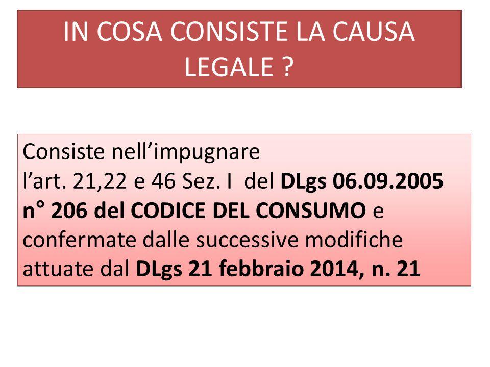COSA DICE QUESTO DLgs .Art. 21.