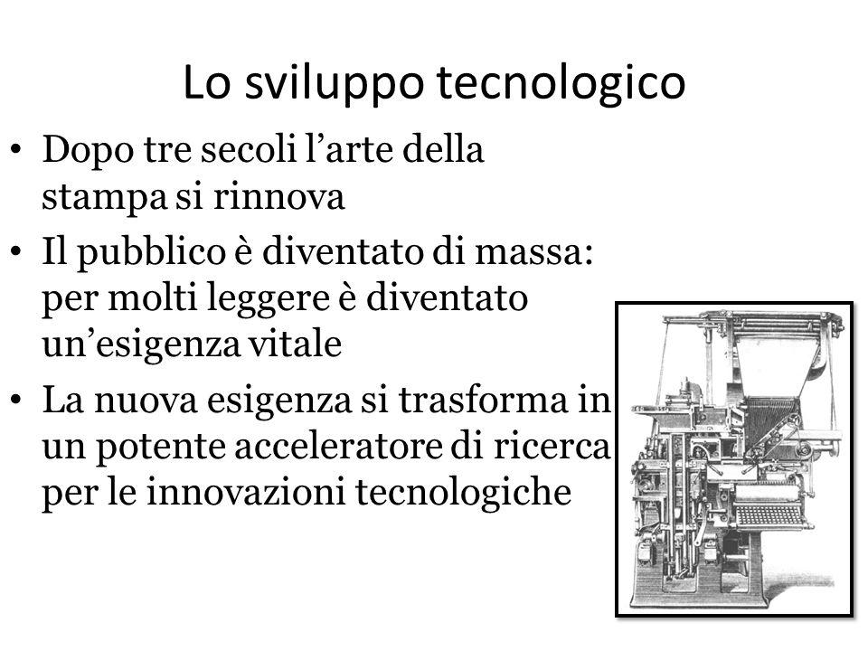 Lo sviluppo tecnologico Dopo tre secoli l'arte della stampa si rinnova Il pubblico è diventato di massa: per molti leggere è diventato un'esigenza vit