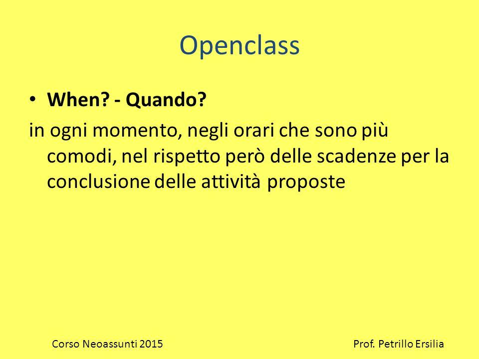 Openclass When. - Quando.
