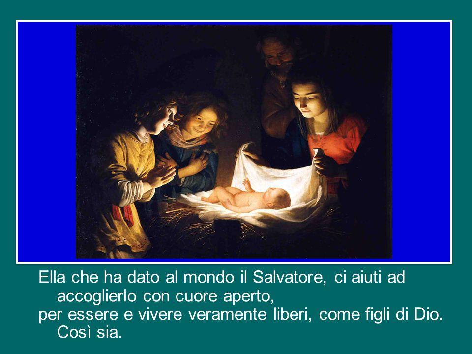 La Vergine Santa, la Santa Madre di Dio che è proprio al cuore del tempio di Dio, quando il Verbo – che era nel principio – si è fatto uno di noi nel