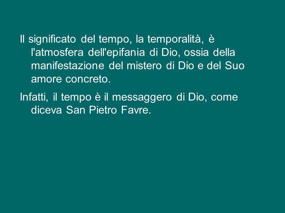 La Parola di Dio ci introduce oggi, in modo speciale, nel significato del tempo, nel capire che il tempo non è una realtà estranea a Dio, semplicement
