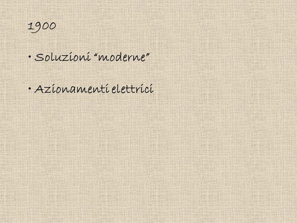"1900 Soluzioni ""moderne"" Azionamenti elettrici"