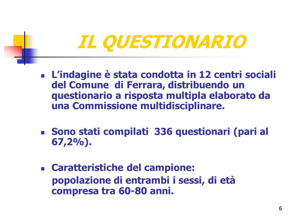 17 ESITI DEL QUESTIONARIOESITI DEL QUESTIONARIO PROPOSTE DI INTERVENTOPROPOSTE DI INTERVENTO