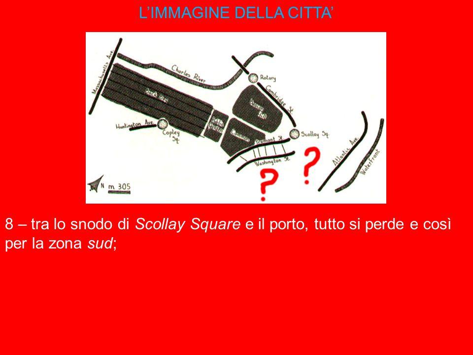 L'IMMAGINE DELLA CITTA' 8 – tra lo snodo di Scollay Square e il porto, tutto si perde e così per la zona sud;