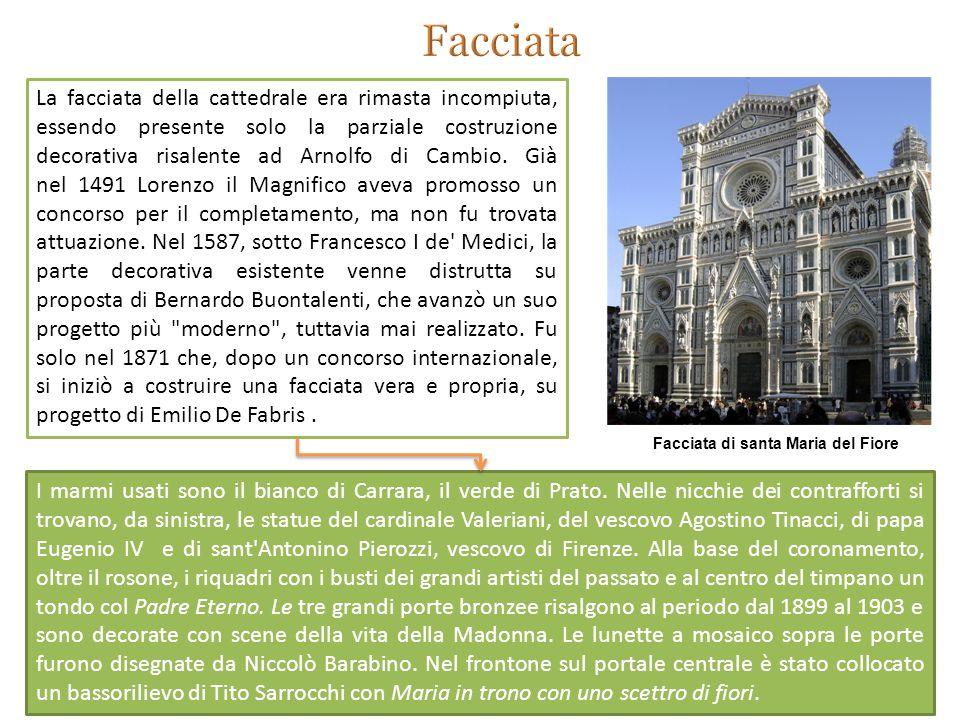 I marmi usati sono il bianco di Carrara, il verde di Prato.