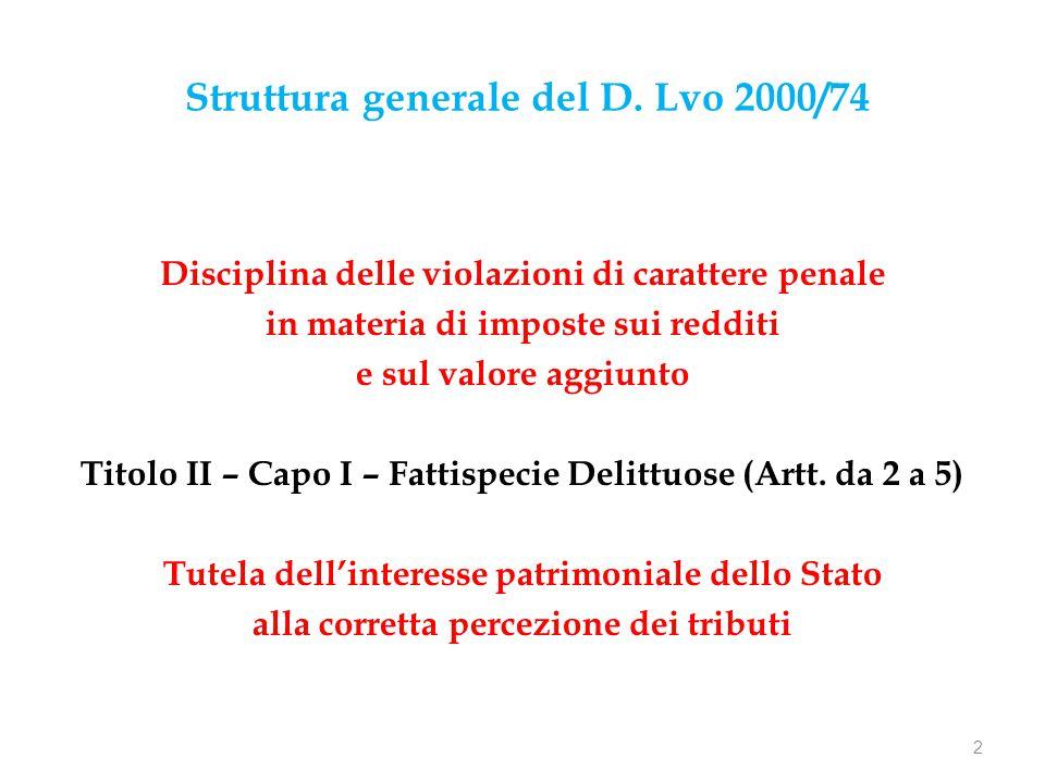 Struttura generale del D.