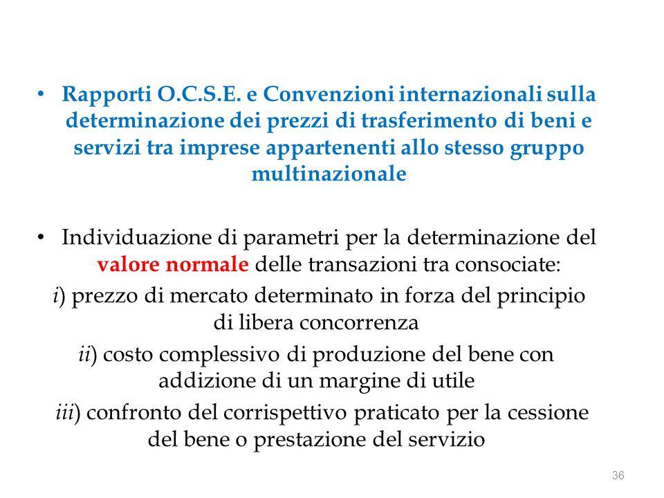 Rapporti O.C.S.E.