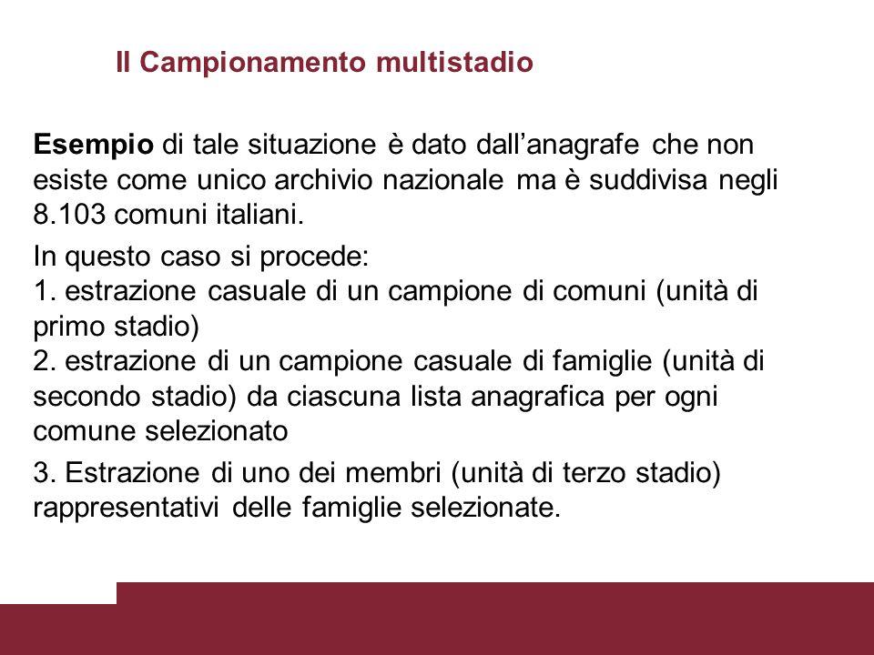 Esempio di tale situazione è dato dall'anagrafe che non esiste come unico archivio nazionale ma è suddivisa negli 8.103 comuni italiani. In questo cas