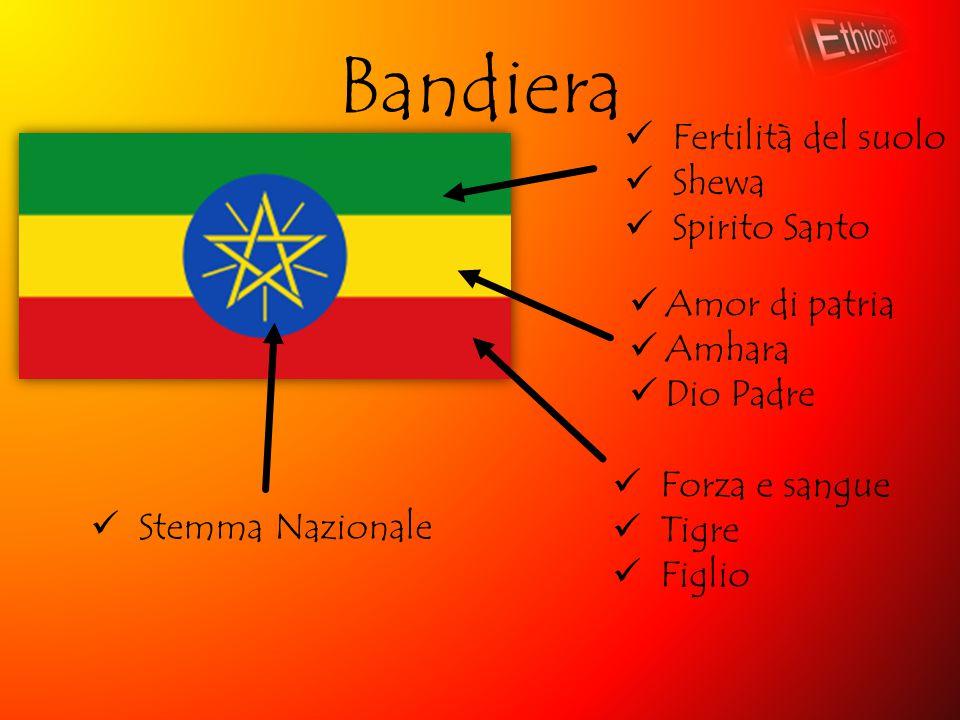 Bandiera Amor di patria Amhara Dio Padre Fertilità del suolo Shewa Spirito Santo Forza e sangue Tigre Figlio Stemma Nazionale