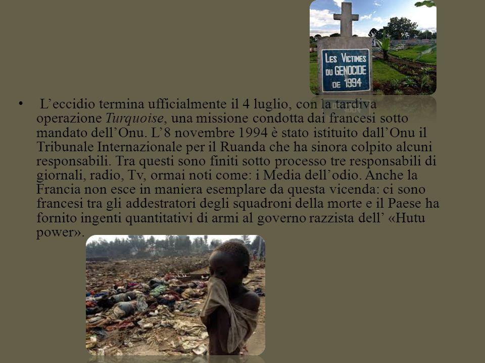 Il massacro è condotto dall'esercito, da squadre irregolari e dalla popolazione civile utilizzando armi da fuoco e armi tradizionali come il machete e