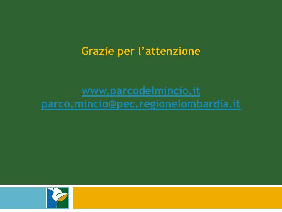 Grazie per l'attenzione www.parcodelmincio.it parco.mincio@pec.regionelombardia.it