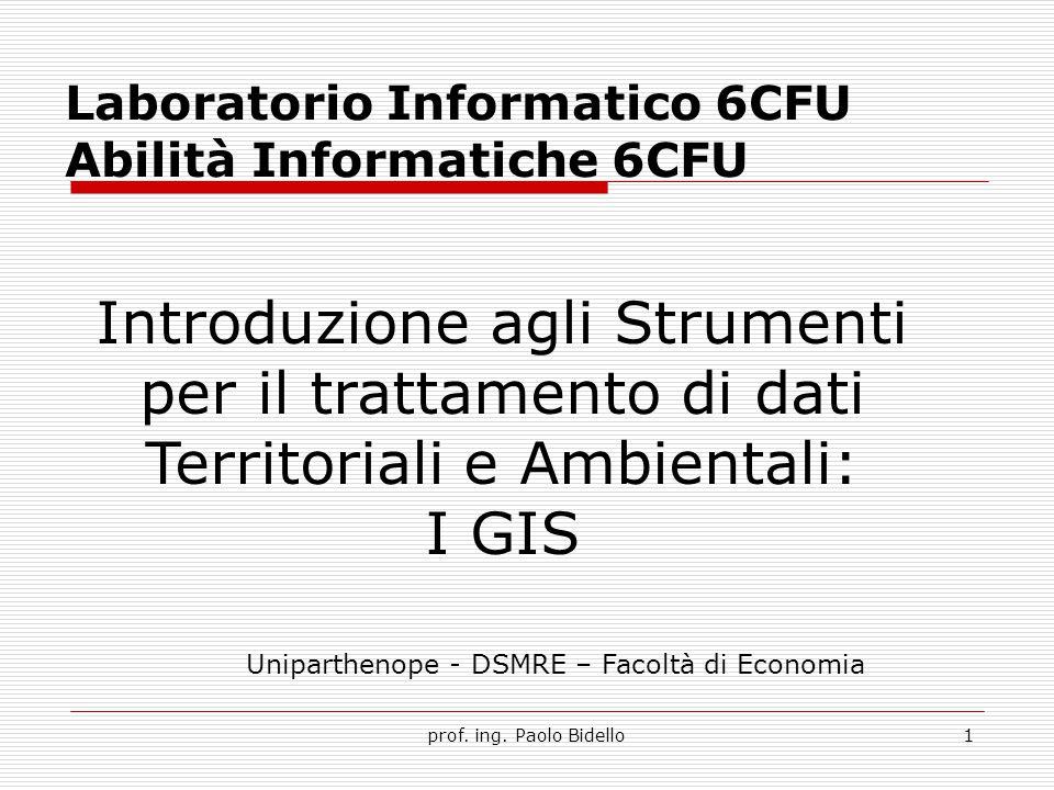 2 Cosa sono i GIS.