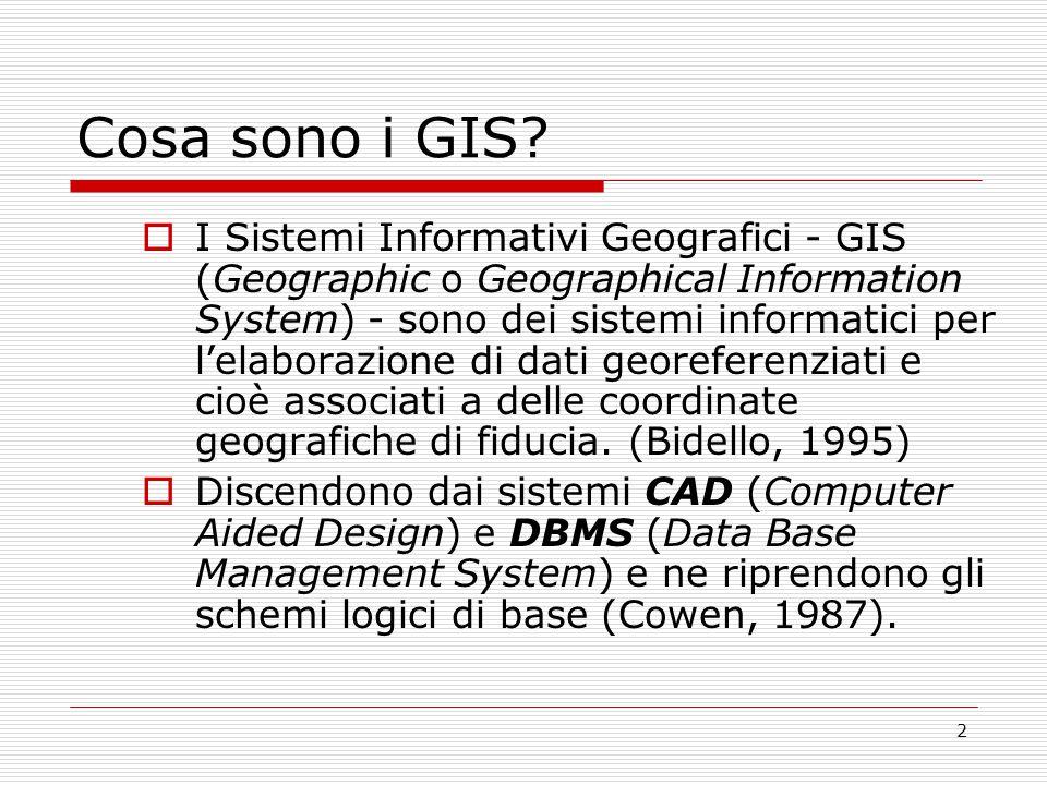 3 Schema logico di una BDG  Una BDG è una Base di Dati Georeferenziati Il blocco funzionale Georeferenziazione è capace di operare opportune trasformazioni sui dati di ingresso.