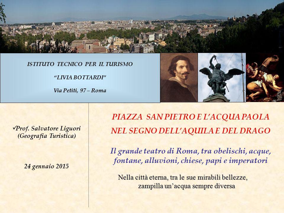 22 Piazza San Pietro tra Storia e Geologia Facciata della Basilica Sul fronte principale della Basilica vi è l'iscrizione di Paolo V Borghese (1612).