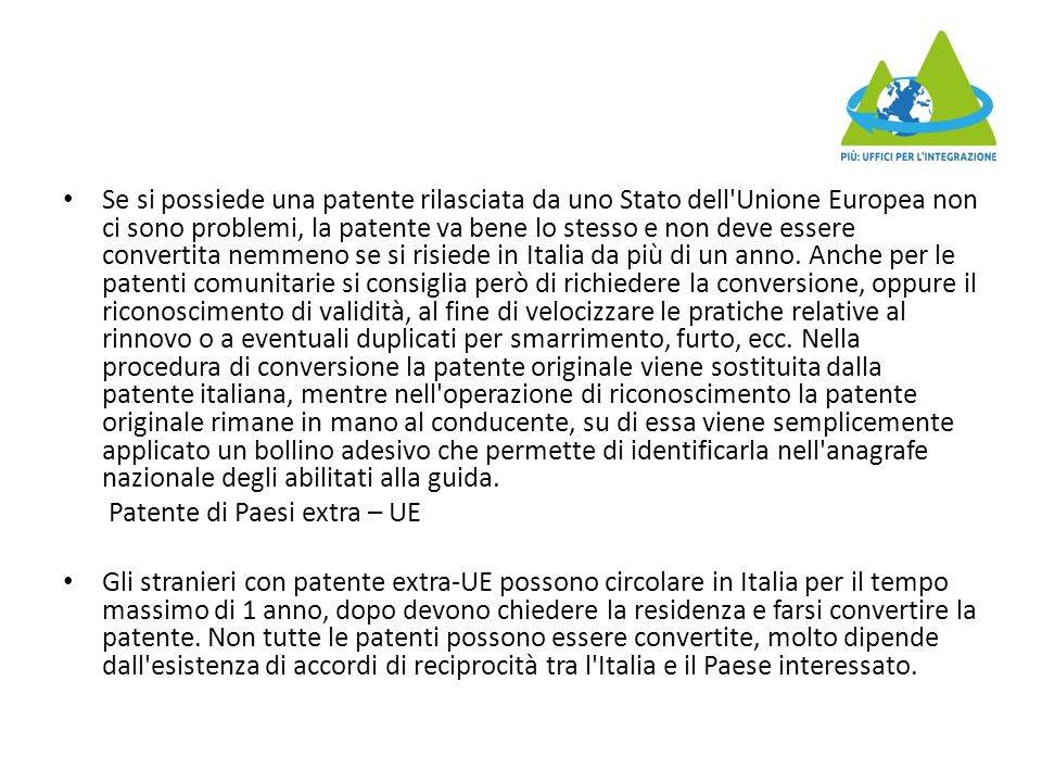 L'articolo 45 del DPR n.