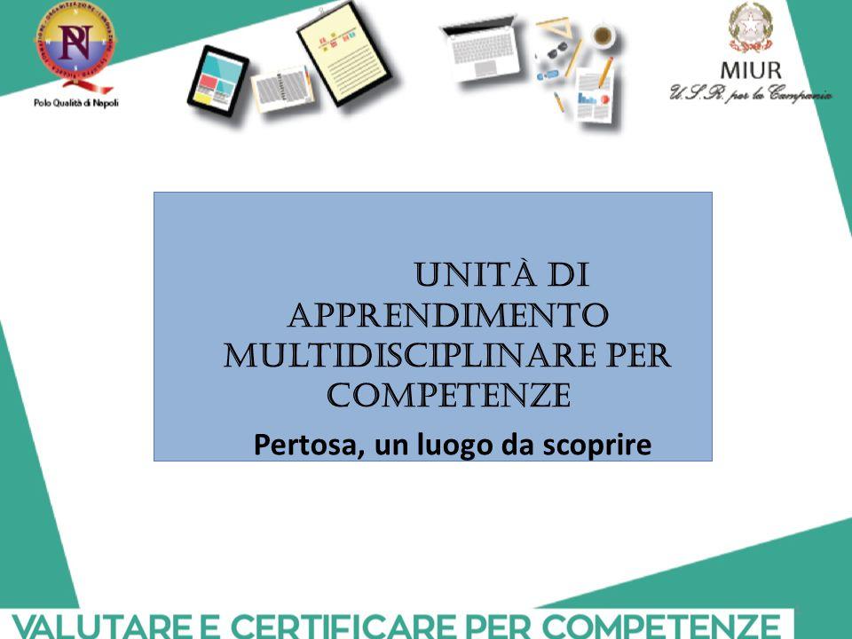 Unità di apprendimento multidisciplinare per competenze Pertosa, un luogo da scoprire 1