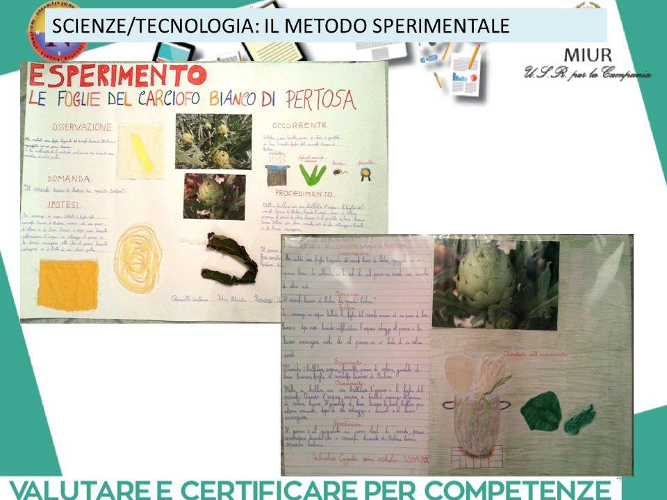 41 SCIENZE/TECNOLOGIA: IL METODO SPERIMENTALE