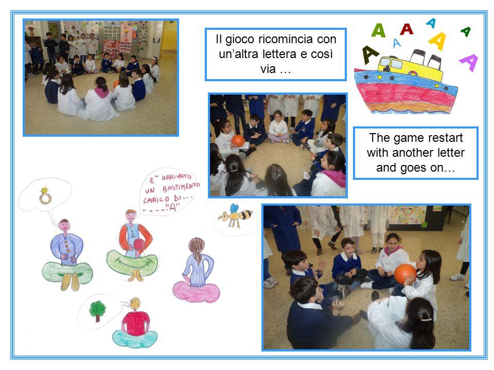 The game restart with another letter and goes on… Il gioco ricomincia con un'altra lettera e così via … A A A A A A A A