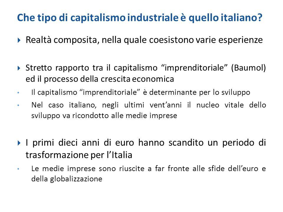 Che tipo di capitalismo industriale è quello italiano?  Realtà composita, nella quale coesistono varie esperienze  Stretto rapporto tra il capitalis
