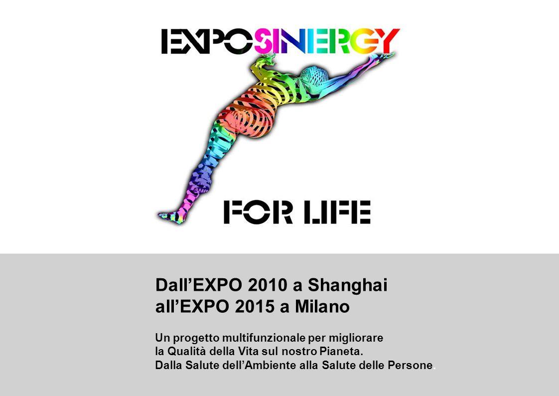 Dall'EXPO 2010 a Shanghai all'EXPO 2015 a Milano Un progetto multifunzionale per migliorare la Qualità della Vita sul nostro Pianeta.