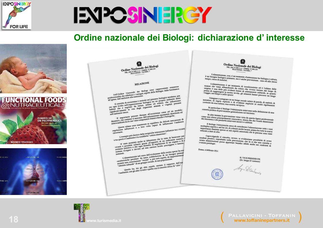 18 Ordine nazionale dei Biologi: dichiarazione d' interesse