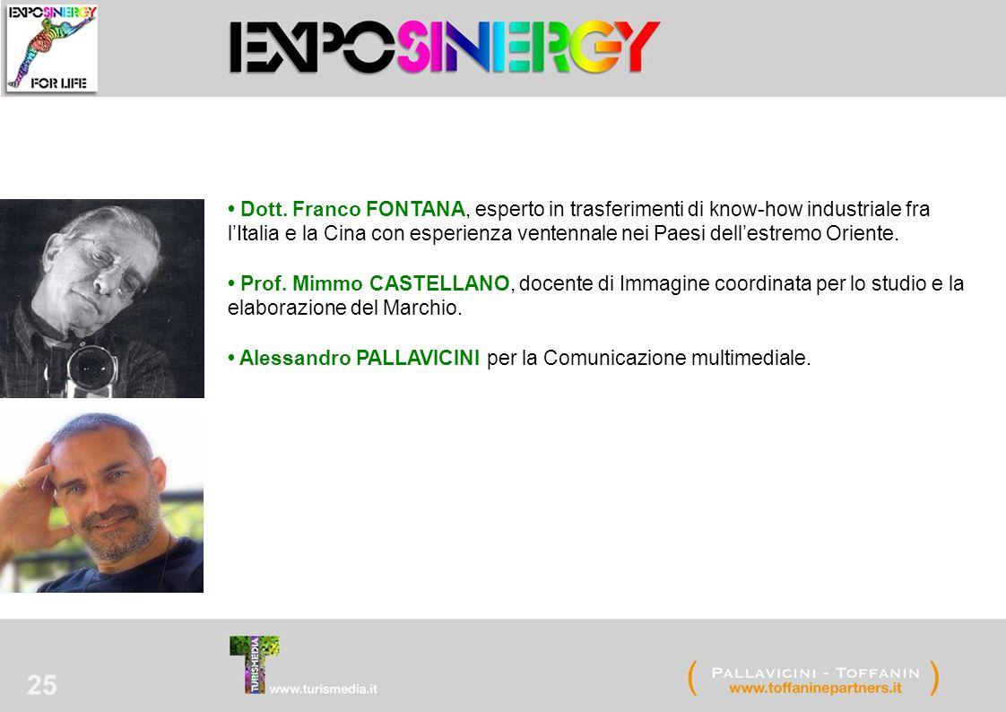 25 Dott. Franco FONTANA, esperto in trasferimenti di know-how industriale fra l'Italia e la Cina con esperienza ventennale nei Paesi dell'estremo Orie