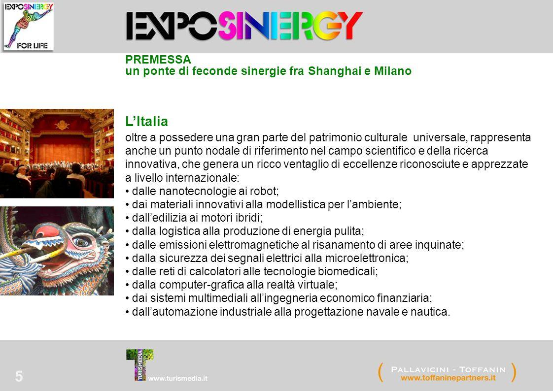 5 L'Italia oltre a possedere una gran parte del patrimonio culturale universale, rappresenta anche un punto nodale di riferimento nel campo scientific