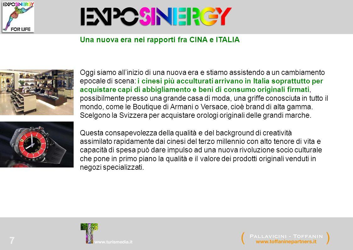 7 Una nuova era nei rapporti fra CINA e ITALIA Oggi siamo all'inizio di una nuova era e stiamo assistendo a un cambiamento epocale di scena: i cinesi