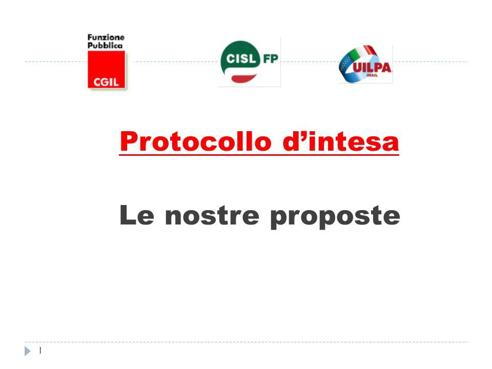 Protocollo d'intesa Le nostre proposte 1