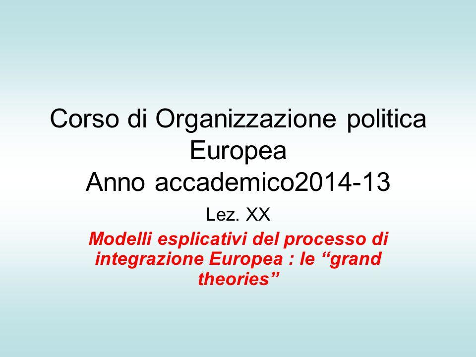 Corso di Organizzazione politica Europea Anno accademico2014-13 Lez.