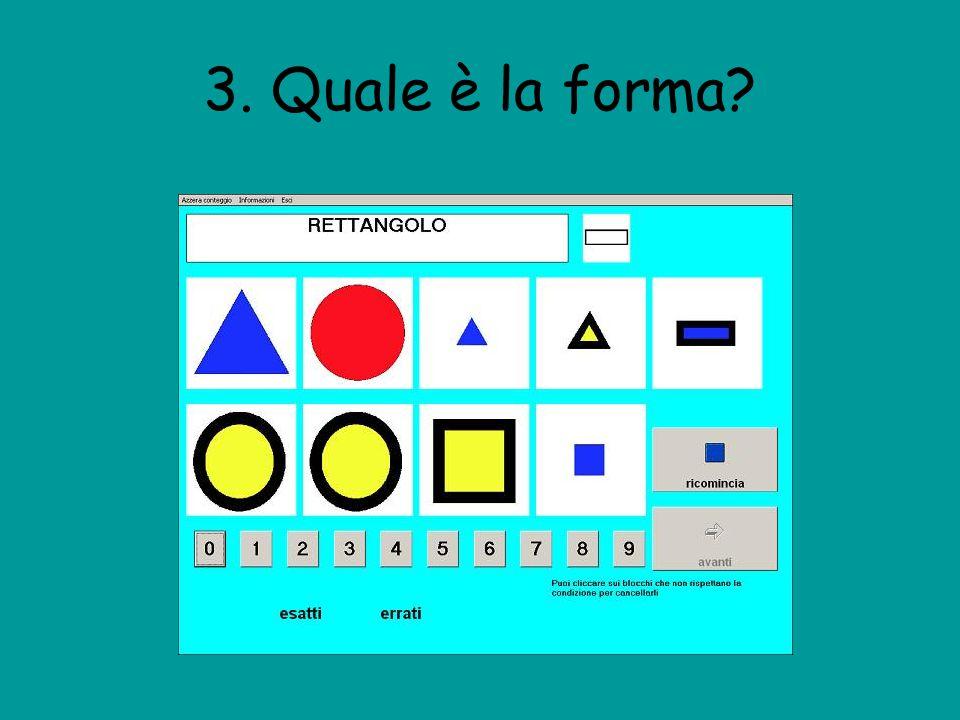 3. Quale è la forma?