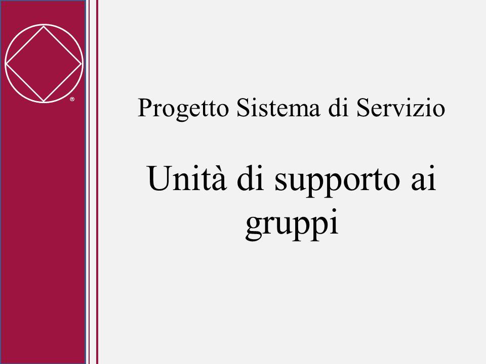  Progetto Sistema di Servizio Unità di supporto ai gruppi