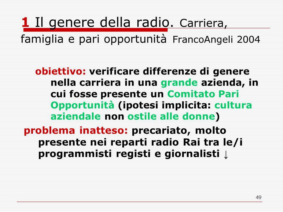 49 1 Il genere della radio.