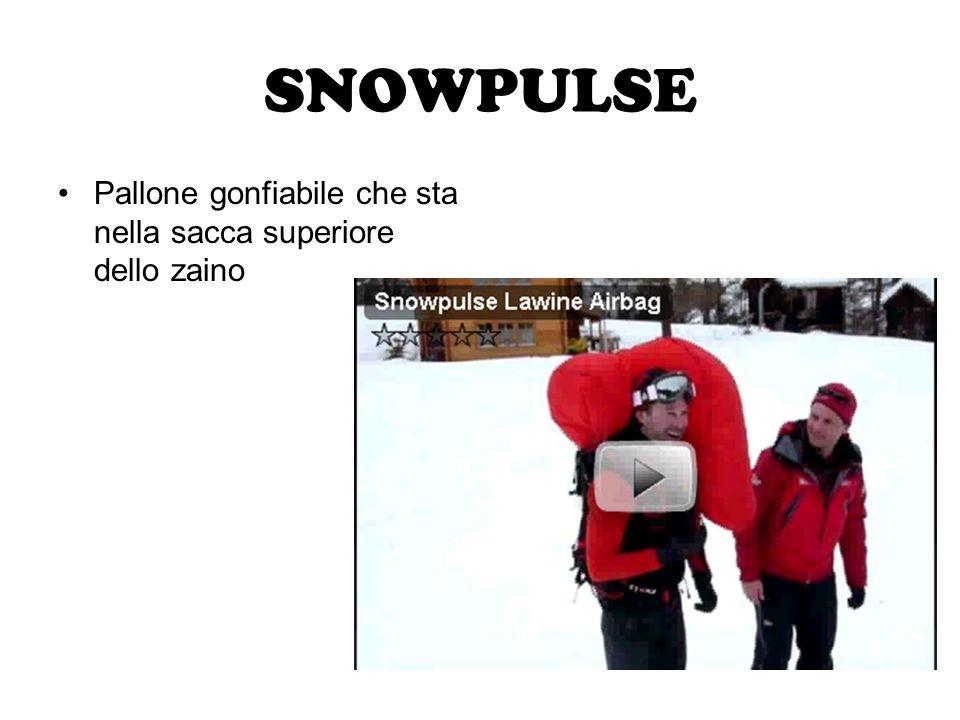 SNOWPULSE Pallone gonfiabile che sta nella sacca superiore dello zaino