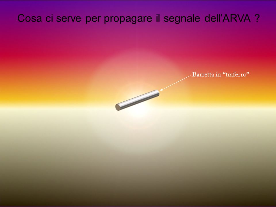 """Cosa ci serve per propagare il segnale dell'ARVA ? Barretta in """"traferro"""""""
