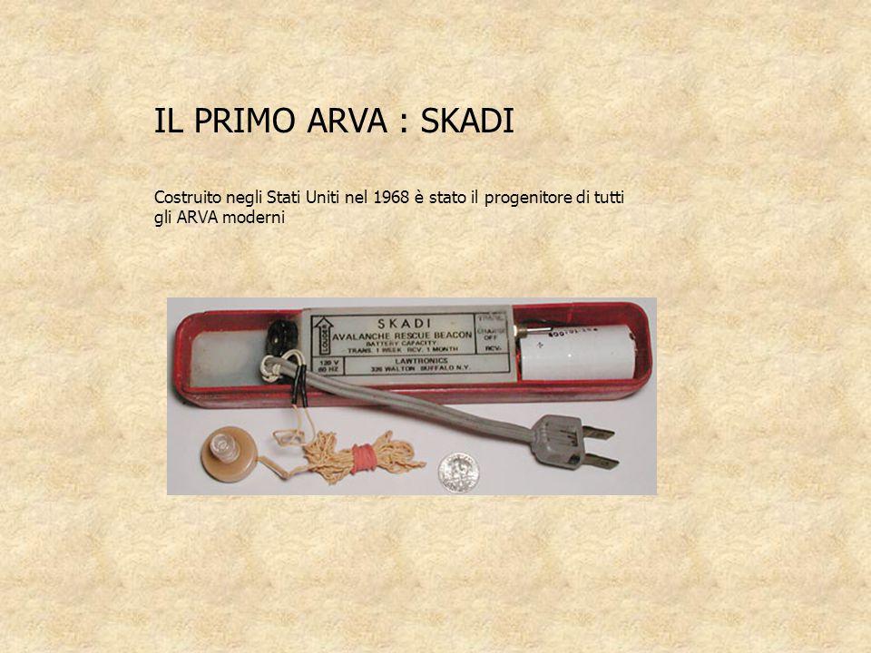 IL PRIMO ARVA : SKADI Costruito negli Stati Uniti nel 1968 è stato il progenitore di tutti gli ARVA moderni