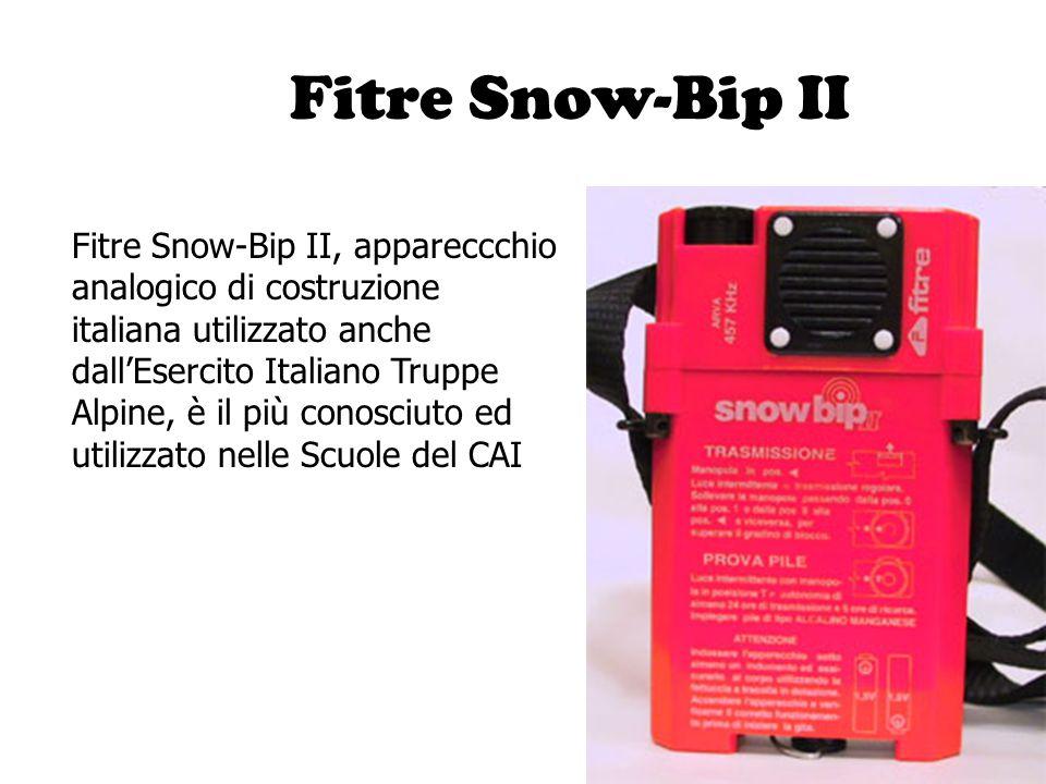 Fitre Snow-Bip II Fitre Snow-Bip II, appareccchio analogico di costruzione italiana utilizzato anche dall'Esercito Italiano Truppe Alpine, è il più co