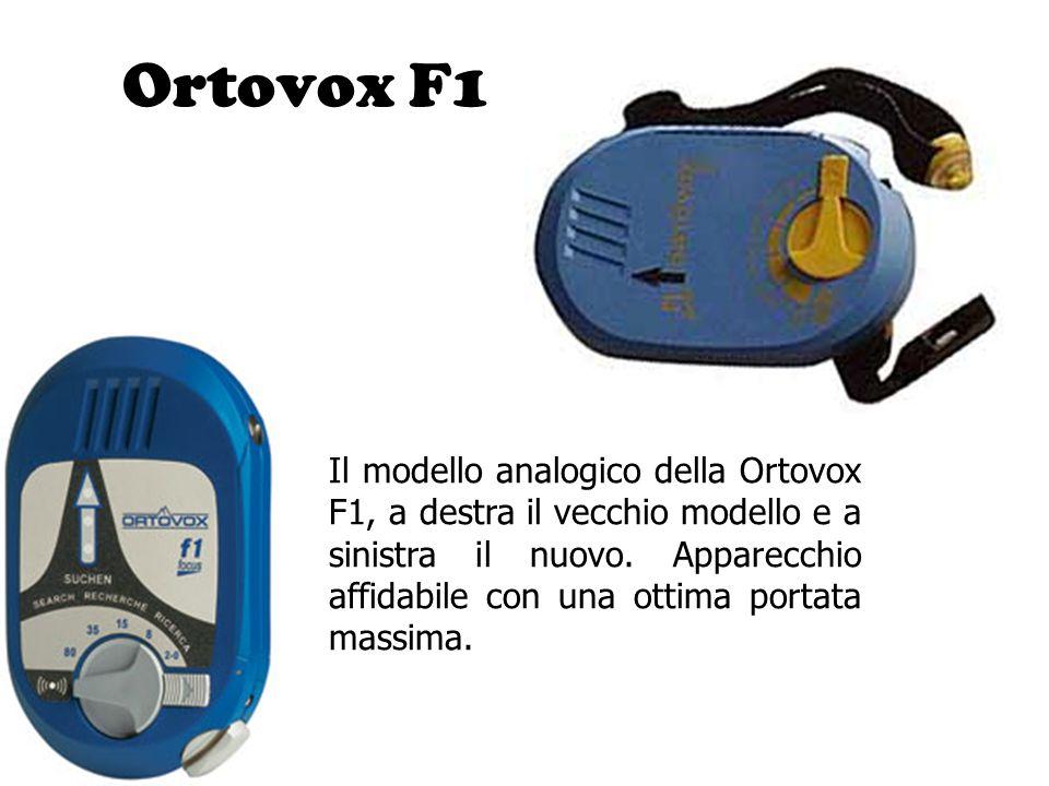 Ortovox F1 Il modello analogico della Ortovox F1, a destra il vecchio modello e a sinistra il nuovo. Apparecchio affidabile con una ottima portata mas