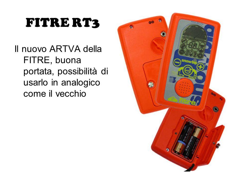 FITRE RT3 Il nuovo ARTVA della FITRE, buona portata, possibilità di usarlo in analogico come il vecchio