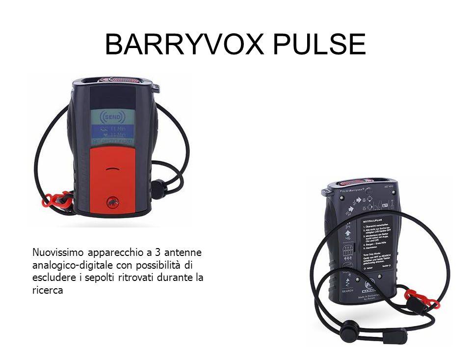 BARRYVOX PULSE Nuovissimo apparecchio a 3 antenne analogico-digitale con possibilità di escludere i sepolti ritrovati durante la ricerca