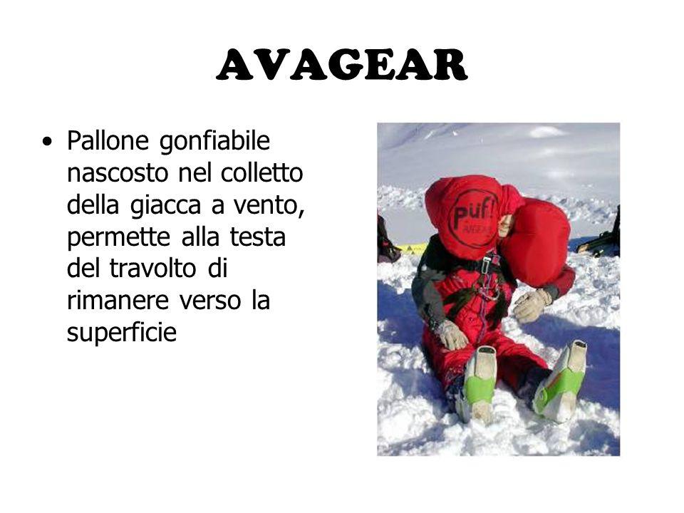 AVALANCHE BALL Piccolo pallone che si apre a scatto per galleggiare sulla neve e trovare più velocemente il travolto