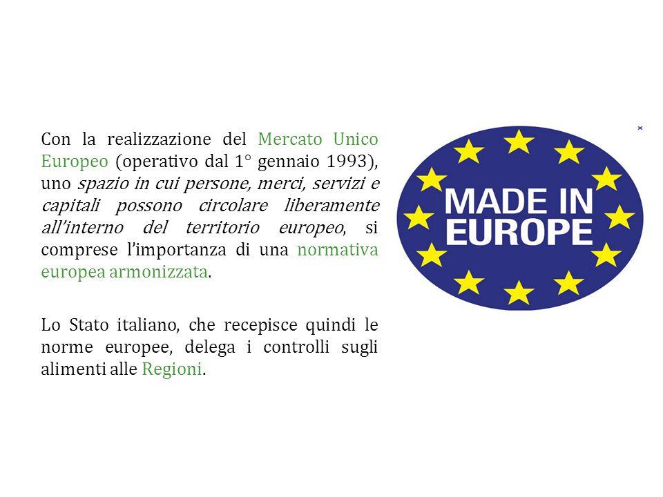 Con la realizzazione del Mercato Unico Europeo (operativo dal 1° gennaio 1993), uno spazio in cui persone, merci, servizi e capitali possono circolare