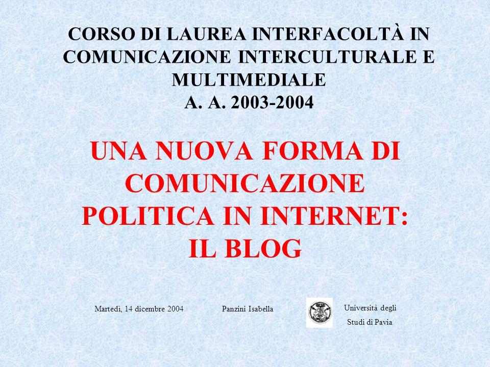 CORSO DI LAUREA INTERFACOLTÀ IN COMUNICAZIONE INTERCULTURALE E MULTIMEDIALE A.