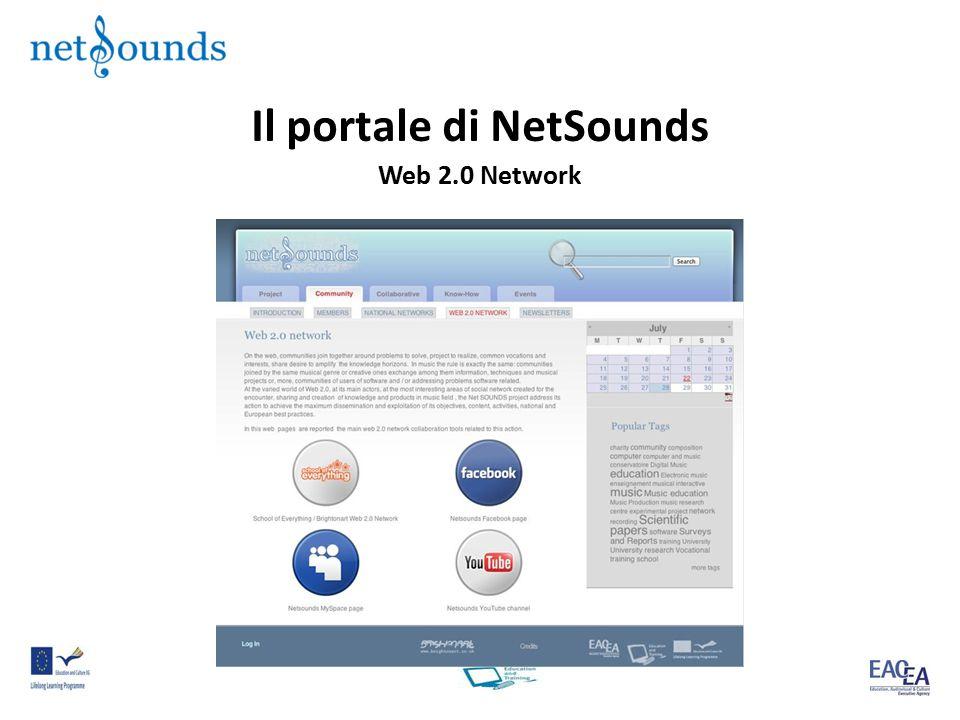 Il portale di NetSounds Web 2.0 Network